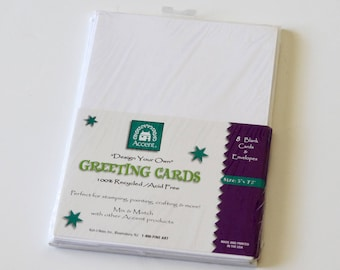 Accent Design Your Own Greeting Cards Pack of 8 Blank Cards & Envelopes