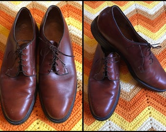 Men's Brown Leather Oxford Shoes Size US 10.5