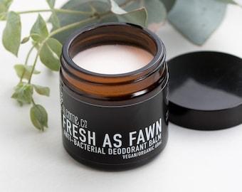 ORGANIC Deodorant Balm / Vegan Natural Aluminium Free/ FRESH As FAWN / 60 ml [ 5 Star Reviews ] Handcrafted in Australia