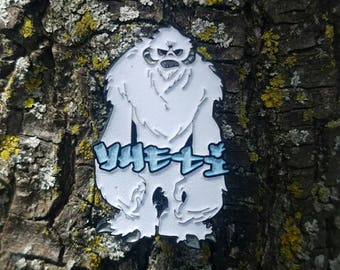 Yheti Hat Pins - On Sale - White LE40 Glow in the Dark Edition