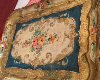 Italy Hand Painted Florentine Tray