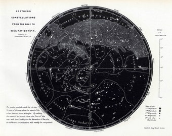 Astronomy Map, Astronomy, Stars, Map Stars, Southern Sky, Sky Map, Black Map, Constellations, Map of Constellations, Space, Zodiac Map, 146