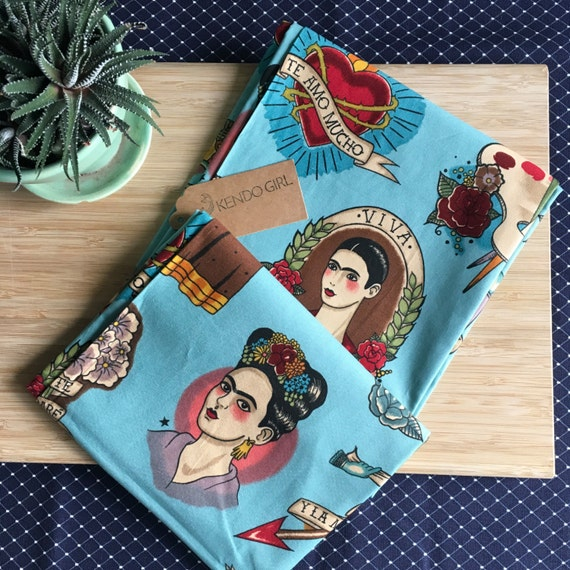 Furoshiki Gift Wrapping Cloth - Japanese Cotton Furoshiki - Frida Design by Kendo Girl