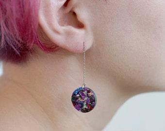 Rainbow earring, earrings, dangle earring, minimal earring, simple earrings, statement earrings, gift for her, minimal jewelry, gift for her