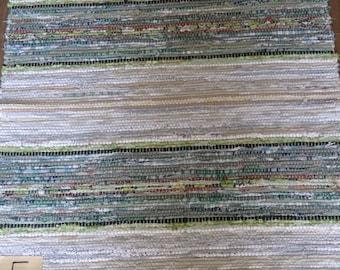 Vintage Swedish Handwoven Rag Rug 80 x 67 cms
