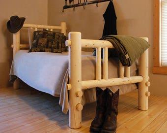 Montana Queen Log Bed Platform