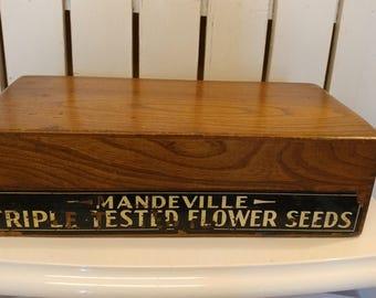 Vintage Mandeville & KIng Co. Superior Seed Display Box