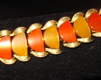 Coro Signed Orange Thermostat Bracelet