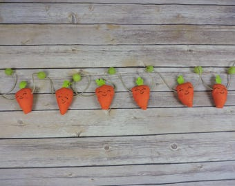 Carrot bunting, Easter bunting, Easter photo prop, spring photo prop, spring bunting, photo prop garland, carrot photo prop, sitter prop