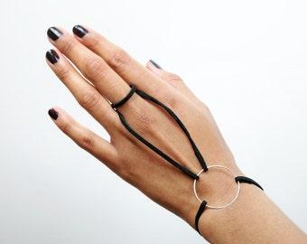 Faux-Suede Hand Harness Bracelet