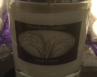 Fresh Cotton, soy wax container candle.