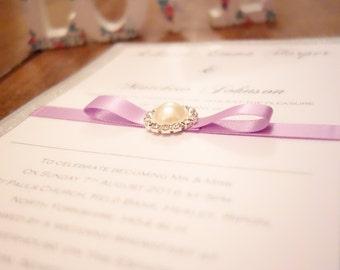 Diamante Wedding Invitatons