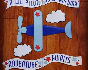 Airplane Baby Shower Party Decorations or Birthday Party