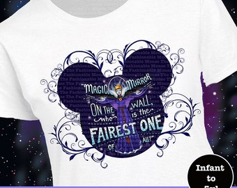 Disney Villian Shirt, Disney Magic Mirror Shirt, Disney Evil Queen Shirt, Disney Fairest Of All Shirt, Snow White Shirt