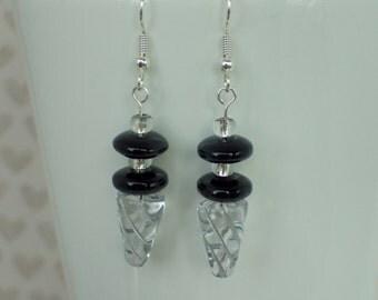 Double Beaded Cone Earrings