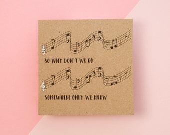 Customised Lyric Treble Clef Music Note Silver Earrings