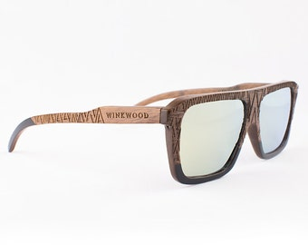 Wood Sunglasses, Polarized Sunglasses, Wooden Sunglasses, Wood Eyewear, Handmade Sunglasses, Oak Sunglasses, Unique Sunglasses by WINKWOOD