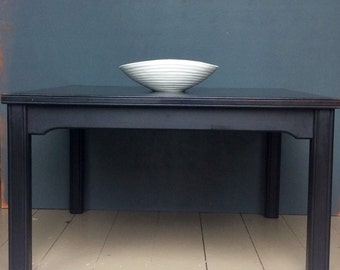 Hand Painted Black Wooden Coffee Table