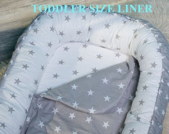 Baby nest protection liner FREE delivery.  40*100cm. Easy washing, longer using. Babynest, pod, coccoon, bedding.