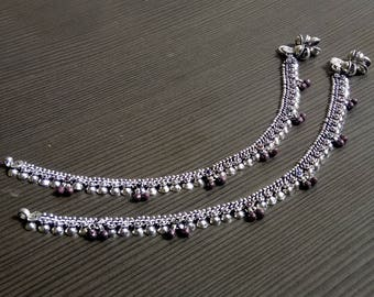 Indian anklets | Ethnic fashion anklets | Anniversary gift jewelry | Women's payal anklet | Silver plated anklet | Trending anklets | A159