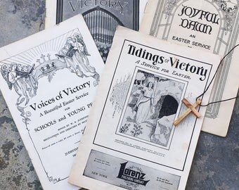 Vintage Easter Programs, Hymns and Poems, 1930s