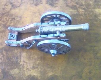 Vintage Cannon Ornamental Brass Military Miniature Cannon LouisXIV