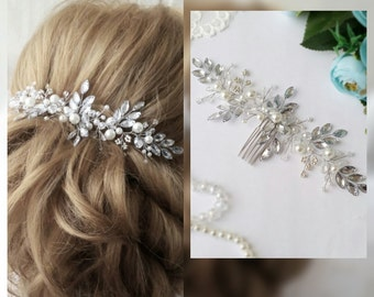 Swarowski Bridal hair comb,Crown,Bridal hair vine,Crystals Bridal Wedding,Hairpiece Bridal Hair Vine,Wedding hair-vine,pearl hair vine 37