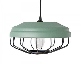 Clear Re-design-pendant light aqua Green