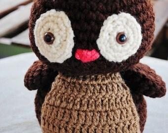 Stuffed Woodland Owl, Woodland Nursery Plush, Baby Safe Plush Toys