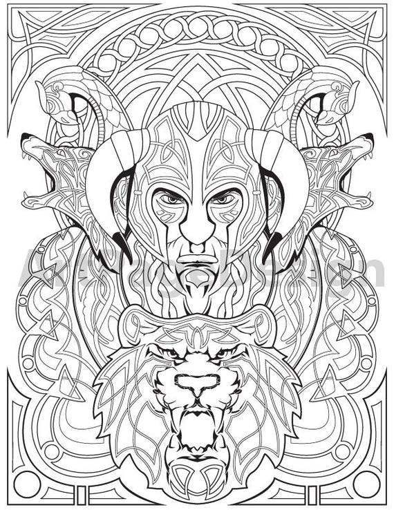 Viking Warrior Coloring Pages Coloring Pages