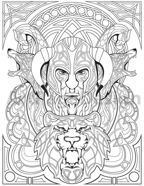 Printable Viking Colouring Sheets : Viking Warrior Coloring Pages Coloring Pages