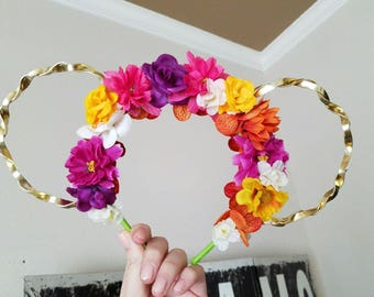 Wildflower inspired floral ears