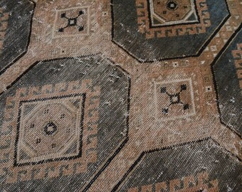 Handmade Turkoman worn Antique rug