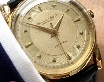 Currently in Service: Rare IWC Automatic solid gold watch with amazing dial