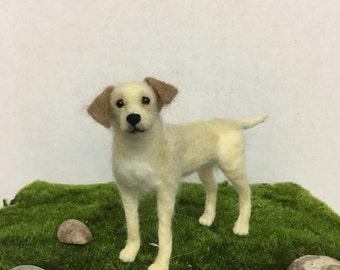 Mini-Pup Needle Felted Yellow Lab