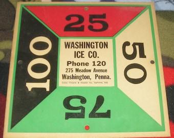 vintage ephemera advertising Washington Ice Co. Pa Pennsylvania
