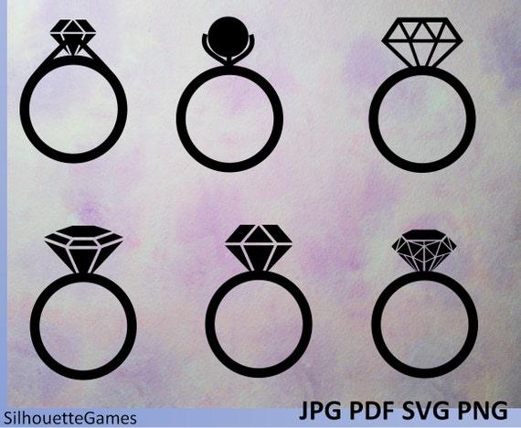 rings silhouette diamond ring rings clip art vector