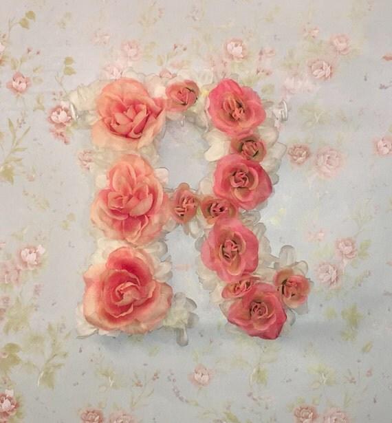 Shop Floral Monograms At Littlebrownnest Etsy Com: Floral Monogram Letter R