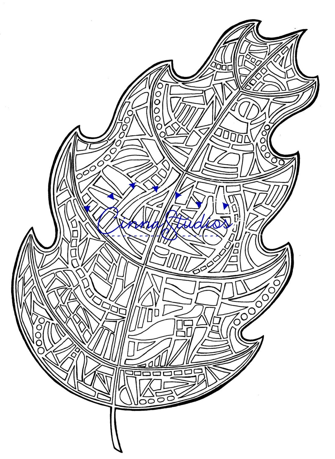 leaves ii coloring page coloring download printable page