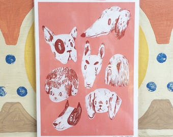 Dog Days Pink - A4 Print