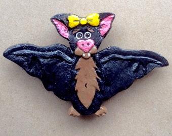 Beatrix  Batmeister - Bat Brooch