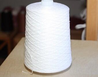 3/2 Pearl Cotton cone, color Bleached (White)