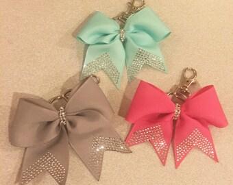 Bling cheerleading bow Keychain