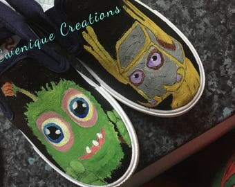 Inspired hand-painted shoes