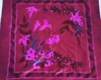 Thai silk vintage scarf
