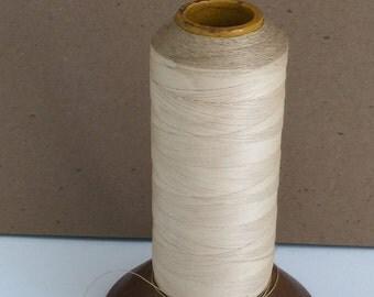Vintage Thread, Vintage Thread Cone, Vintage Thread Spool, Cream Thread