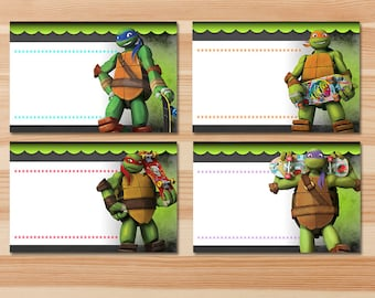 Teenage Mutant Ninja Turtles Food Tents - Green Chalkboard - Ninja Turtles Food Labels - Ninja  sc 1 st  Etsy & Tmnt food labels | Etsy