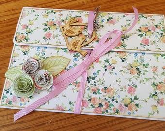 Pretty Pink Flower Bird Brag Book