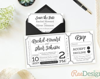 concert ticket wedding invitation sample pack free. Black Bedroom Furniture Sets. Home Design Ideas