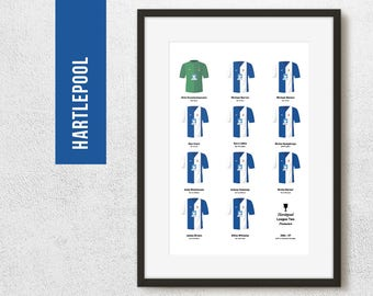 Hartlepool 2007 League 2 Promotion Winners Football Team Poster Art Print *FREE UK DELIVERY* Gift Idea